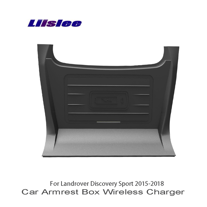 Liislee For Land Rover Discovery Sport 2015~2018 Car Sundries Box Wireless Charger Car Quick Charge Fast Mobile Phone Car Charge