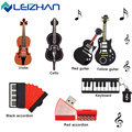 Leizhan instrumento musical presente do usb flash drive usb flash drive de 4 gb 8 GB 16 GB 32 GB 64 GB Pendrive USB 2.0 Memory Stick Pen Drive