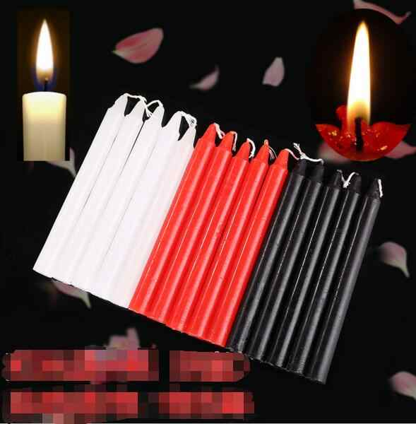 Black Candles Household Lighting Candles Daily  Decorate Candle Smoke-free Romantic Wedding Long Pole classic Candles