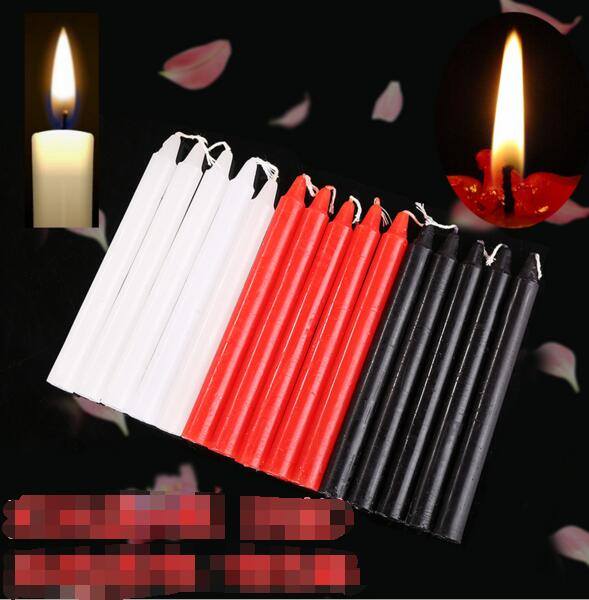 Schwarz Kerzen Haushalt Beleuchtung Kerzen Täglichen Schmücken Kerze Rauch-freies Romantische Hochzeit Lange Pol klassische Kerzen