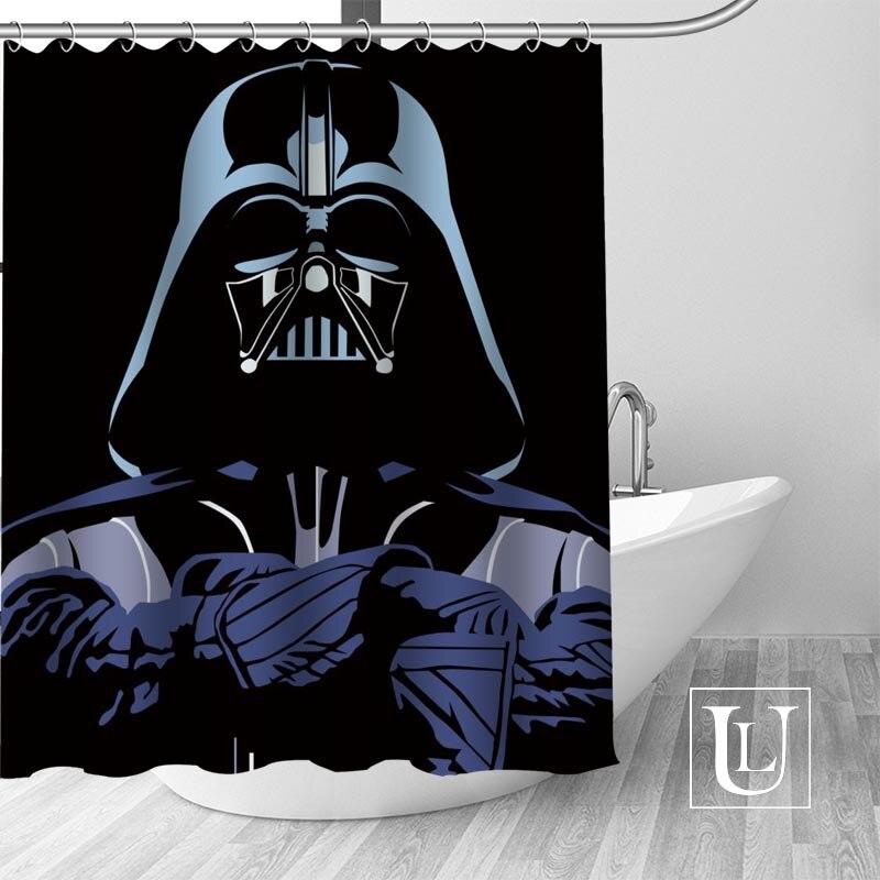 High Quality Custom Star Wars Shower Curtain Polyester Fabric Bath Curtain Hooks Mildew Resistant 1PC Custom