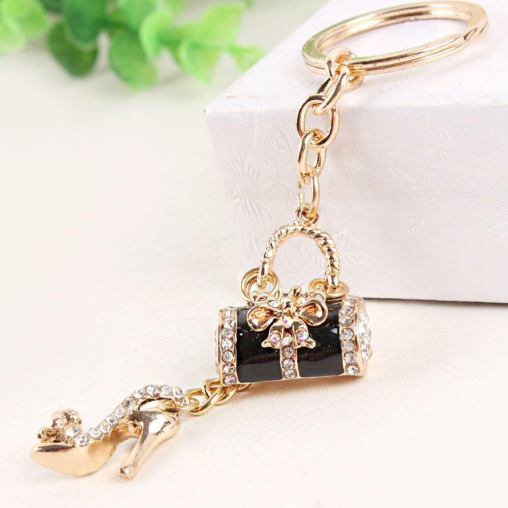 Сумочка высокого каблук обуви бабочка бантом новые модные милые Украшенные стразами кошелек брелок ювелирные изделия отличный подарок