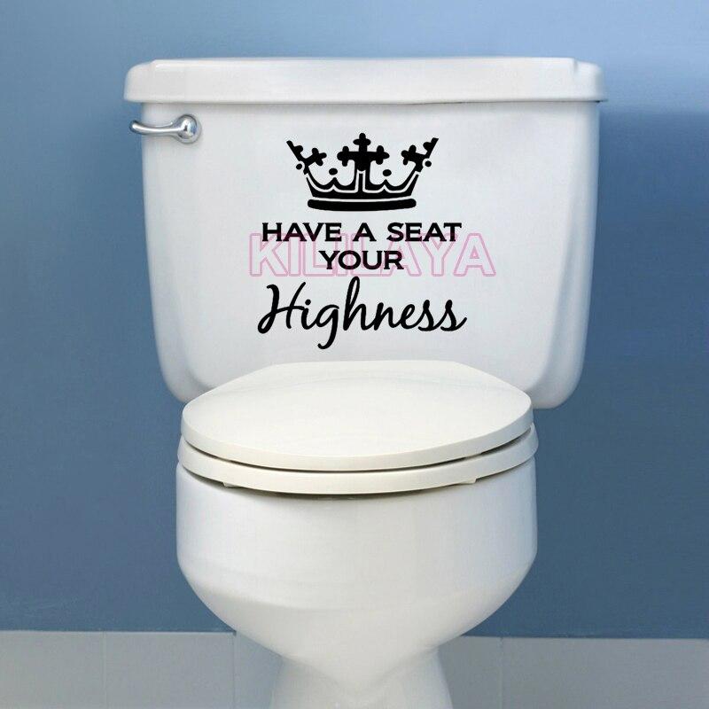 Cara DIVERTIDA Asiento del Inodoro Pared Arte Pegatina Vinilo Calcomanía divertida cita cuarto de baño