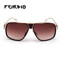 Feirdio Novelty For Women Men Sun Glass Alloy Legs Frame Goggles Elegant Oculos De Sol Gafas Uv400 Vintage Style Summer Travel