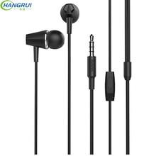 Hangrui M34 Universal Em fones de Ouvido Fones De Ouvido Super Bass Fones de Ouvido Estéreo Fones De Ouvido com Microfone do fone de ouvido fone de ouvido Auriculares para Iphone Samsung Fone De Ouvido