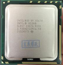 Процессор Intel Xeon X5670 (12 МБ кэш, 2,93 ГГц, 6,40 GT/s Intel QPI) LGA1366 PC компьютер ЦП сервера