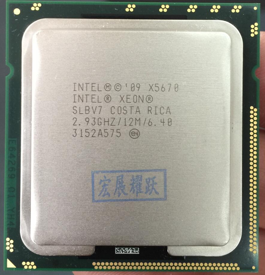 Processador Intel Xeon X5670 (12 3M Cache, 2.93 GHz, 6.40 GT/s Intel QPI) LGA1366 PC Servidor de computador CPU