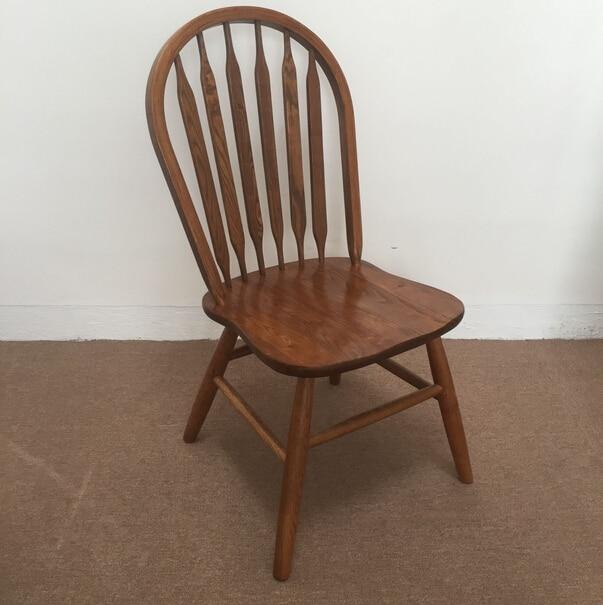 silla de comedor de madera maciza de roble de estilo americano arrowback windsor silla de madera