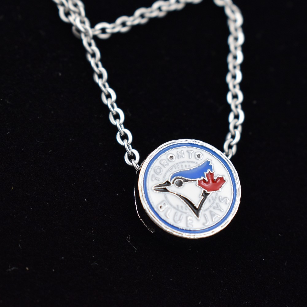 10Pcs Toronto Blue Jays Slide Charms Necklace Jewelry Baseball Team Sports Jewelry Charms With Necklace For DIY
