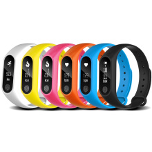 M2 Smart Sport Bracelet Watch Bluetooth Heart Rate Blood Pressure Monitoring Waterproof Pedometer