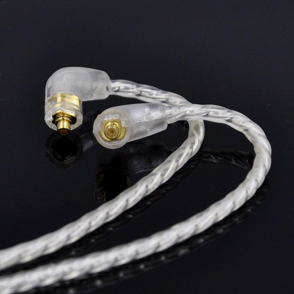 bilder für Einfach 4 Cell Einkristall Kupfer Versilbert Kabel Kopfhörer Upgrade Kabel für Shure SE425 SE215 SE315 UE900 W40 Mit ohrbügel