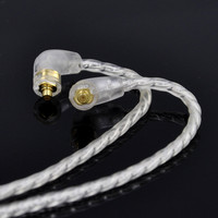 Easy 4 Cell Single Crystal Copper Plated Silver Cable Earphone Upgrade Cable For Shure SE425 SE215