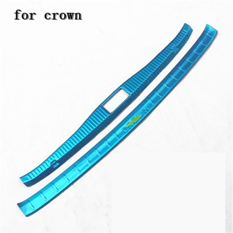 Car accessories Stainless Steel Rear Bumper Protector Sill Trunk Tread Plate Trim for Toyota crown 2015-2018 Car stylingCar accessories Stainless Steel Rear Bumper Protector Sill Trunk Tread Plate Trim for Toyota crown 2015-2018 Car styling