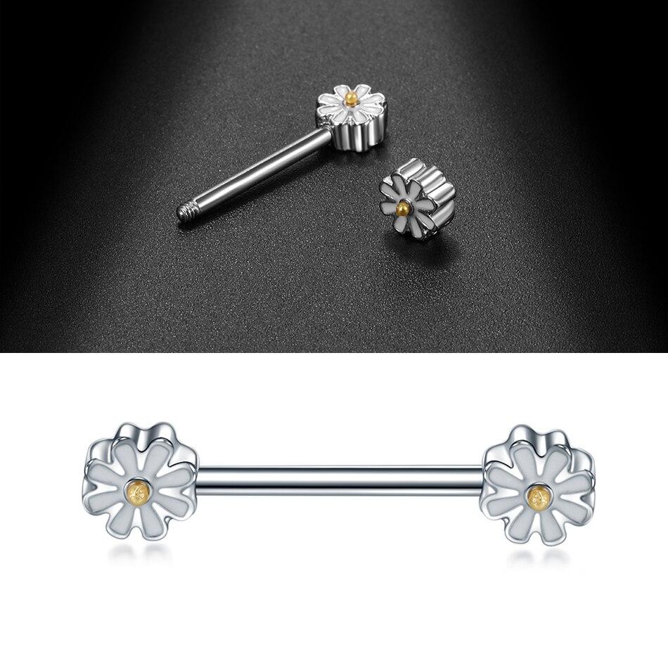 14G//16G Long Industrial Barbell Earrings Punk Stainless Steel Piercing Earrings