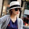 Летняя шляпа женщины Пляж Шляпа суб шляпа большая наполнянный до краев шляпы fedoras