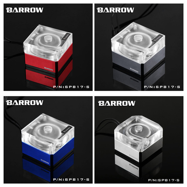 Barrow speed control type pump for Watercooling -PWM-17W Standard transparent SPB17-S