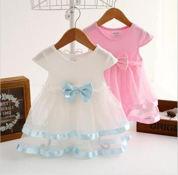 Infant Baby Girls Lace tutu Rompers Toddler Princess Bow Jumpsuits Bebe Summer Clothes 2018 Childrens Clothing