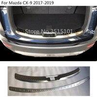 자동차 스테인레스 스틸 내부 외부 후면 범퍼 외부 트림 플레이트 내부 트렁크 페달 마즈다 CX-9 CX9 2017 2018 2019 2020
