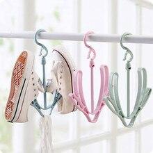 household plastic shoes drying rack hanger hook folding hanging shelf organizer washing dry shoes storage rack