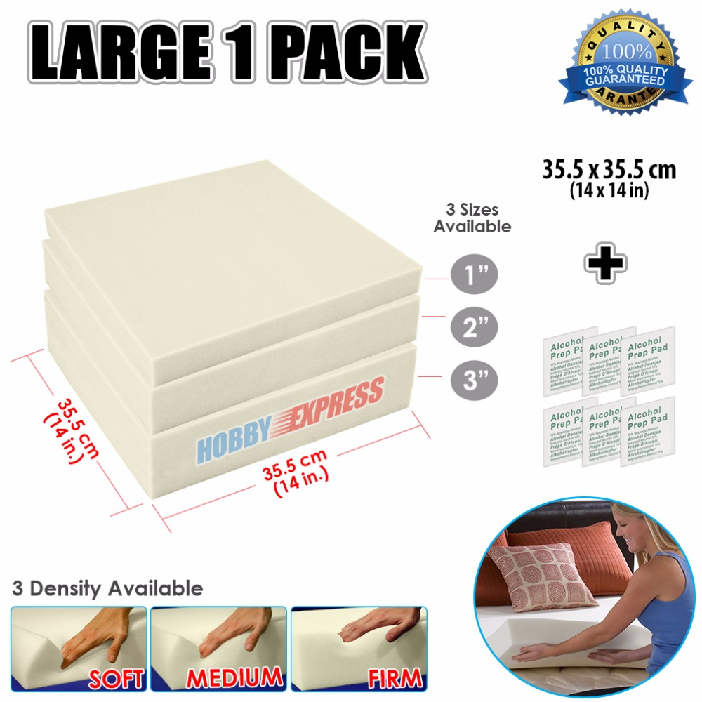 FoamTouch High Density Custom Cut Upholstery Foam Seat Cushion 6 inch Thick by 24 inch Wide by 27 inch Long