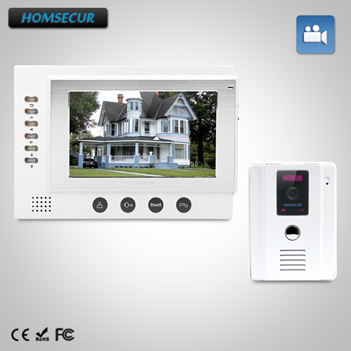 HOMSECUR 7 Wired Video&Audio Smart Doorbell+White Camera 1C1M for House/Flat:  TC011-W Camera +TM701R-W MonitorHOMSECUR 7 Wired Video&Audio Smart Doorbell+White Camera 1C1M for House/Flat:  TC011-W Camera +TM701R-W Monitor