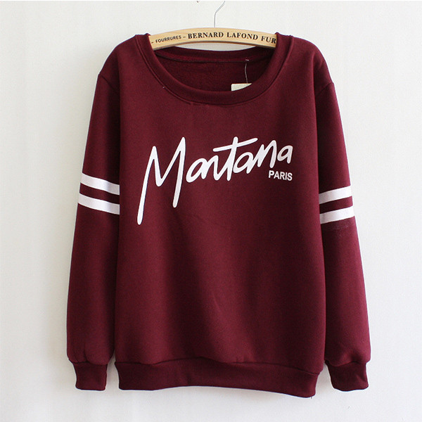 New Hot Women Girl Sweatshirt Fleece Hoodies Crewneck S Loose ...