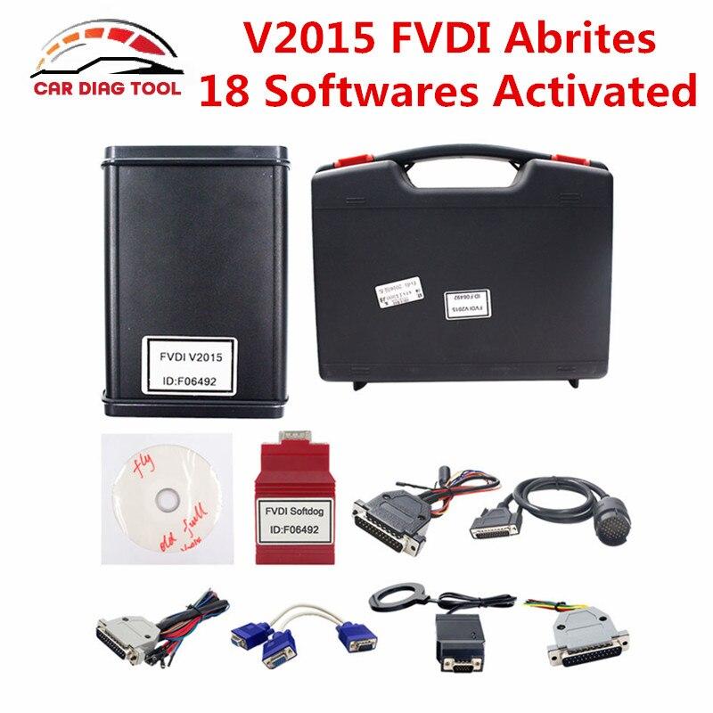 Цена за 2017 неограниченное оригинальный FLY FVDI ABRITES командующий FVDI полная версия с 18 программного обеспечения V2015 FVDI инструмент диагностики DHL Бесплатная доставка