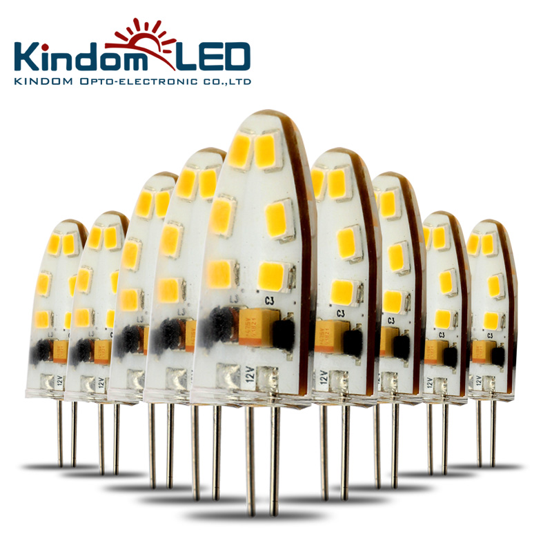 KINDOMLED 10pcs G4 LED Lamp 12 Volt LED Light Bulbs AC&DC 1W 3W LED Light 360 Beam Angle ...