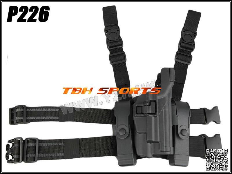 BH Style LV3 Sig P226 Holster serpa Light Bearing Ver. W/ Mag Pouch Platform Drop Leg Holster+Free shipping(SKU12050031)