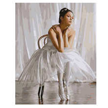 Decoration Oil Painting For Living Room,Ballet,Oil By Numbers,Diy Paint Number