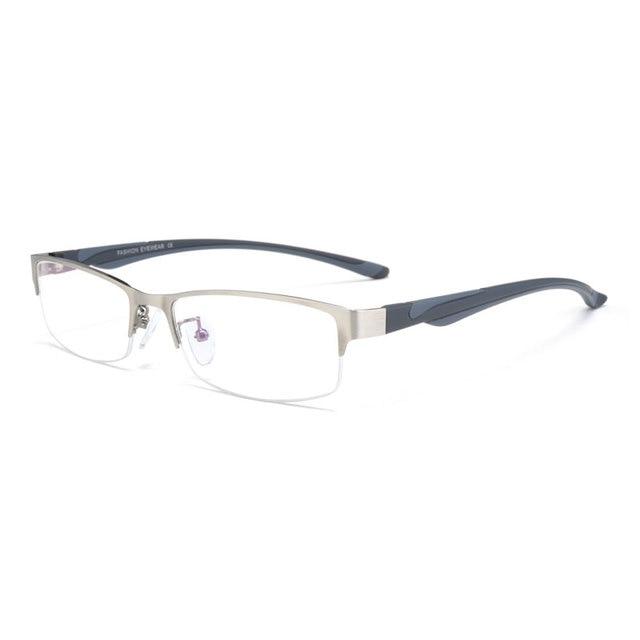 High end Business Reading Glasses Stainless Steel Half Rimless Eyeglasses Frame Optical Prescription Eyewear