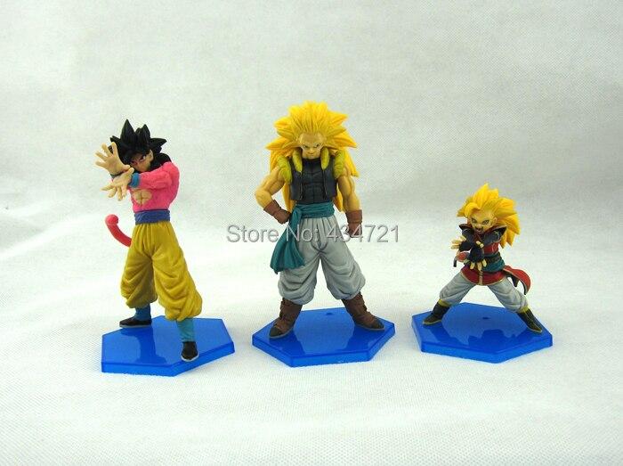 3pcs Hot Son Goku Super Saiyan 3 Super Saiyan 4 Akira Toriyama Anime Dragon Ball Gt 13cm Action Figure Toys Figure Toy Action Figure Toyssuper Saiyan 4 Aliexpress