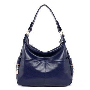Image 5 - جلد طبيعي ريترو المرأة حقيبة السيدات حقيبة/حقيبة كتف المرأة Crossbody حقيبة ساعي حقائب اليد النسائية