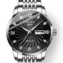 купить WOLWO Men's Fashion Casual Mechanical Watches 100M Waterproof Steel Brand Luxury Automatic Business Watch Relogio Masculino дешево