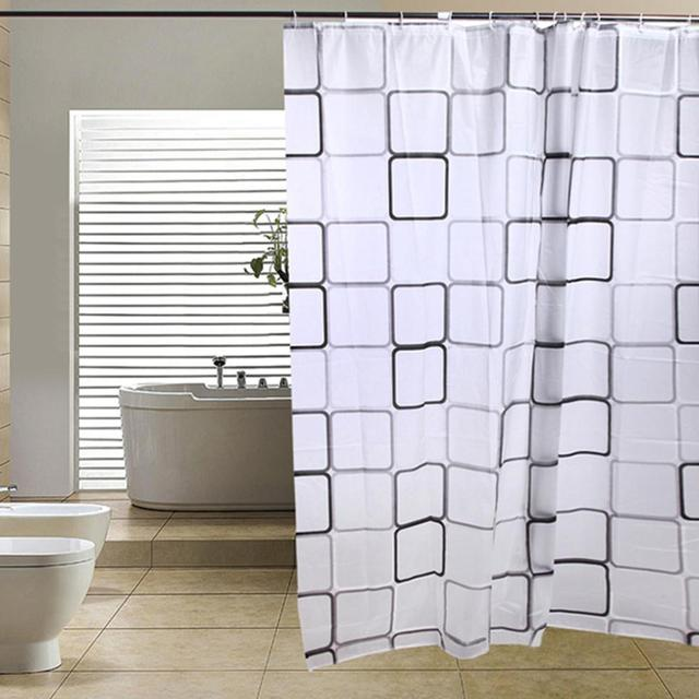 High Quality Modern Bathroom Shower Curtains Long with Hooks 180 x ...