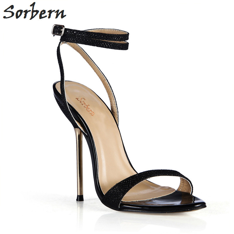 Sorbern Black Shiny Runway 2018 Shoes Gold Strappy Heels Slip On Shoes For Women Slingback Sandals Holiday Shoes Sandals SummerSorbern Black Shiny Runway 2018 Shoes Gold Strappy Heels Slip On Shoes For Women Slingback Sandals Holiday Shoes Sandals Summer