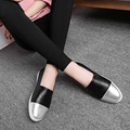 2016 New Arrival Brand Design Women Loafer Shoes Slip On Women Genuine Leather Flats Spring Summer Casual Shoes Woman Size 35-40