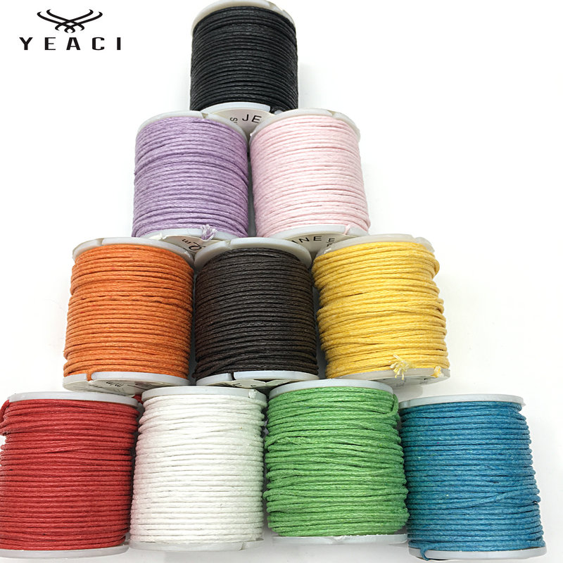 10pcs/package DIY 1.0mm Cords Korean Jewelry Wax Rope Braided Wire Bracelet Necklace Rope Jewelry Findings & Components TP-031
