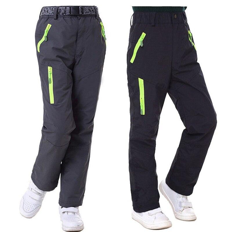 Spring Autumn Winter Children Outdoor Pants Fleece Trousers Russian Snow Kids Girls Boys Windproof Waterproof Ski Pants P05