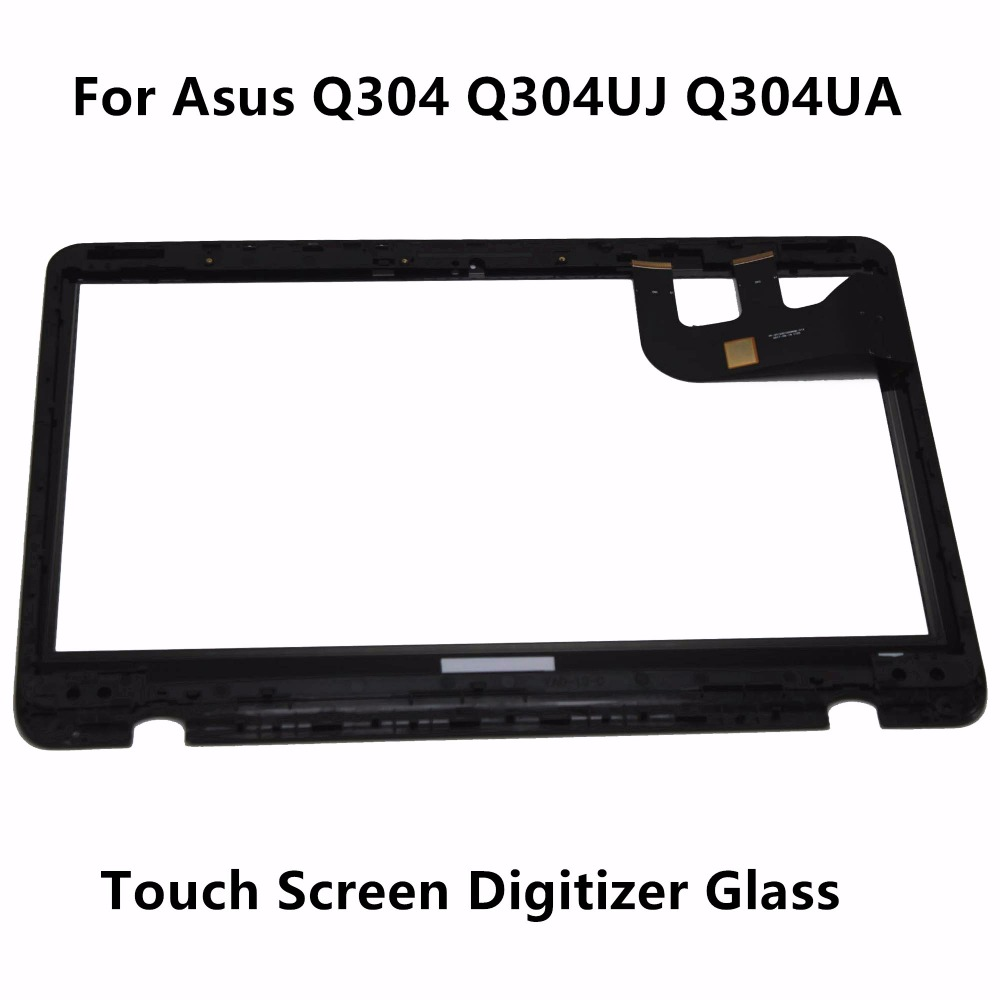 New 13.3 Touch Glass Digitizer Panel + LCD Screen Display Assembly with Frame for Asus Q304 Q304UJ Q304UA Series Q303UA-BSI5T21 11 6 lcd display monitor touch panel screen digitizer glass assembly with frame for asus transformer book t200 t200ta