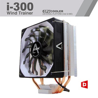 CPU Cooler 120mm PWM 4 Pin 135W 3 Heat Pipes 12 Cm For Central Processor Silicone