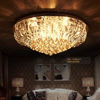 Z Modern LED Luxury K9 Crystal Large Ceiling Lamp E14 Lighting Minimalist Circular Living Room Hall