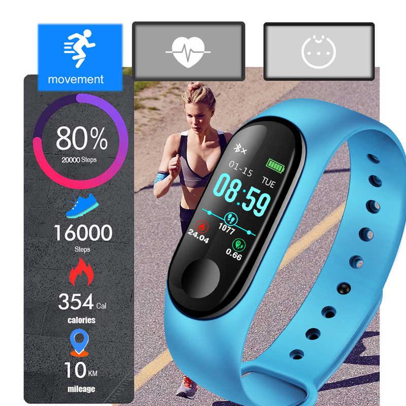 Ini Olahraga Gelang Wanita IP67 Tahan Air Kebugaran Watch Tekanan Darah Heart Rate Monitor Pedometer Smart Gelang Android IOS