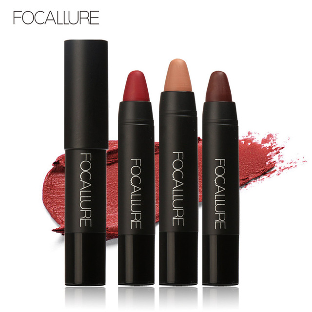 FOCALLURE 12 Colors Matte Lipstick Pen Waterproof Sexy Long-lasting Easy to Wear Pintalabios Batom Mate Lip Stock Nude Makeup