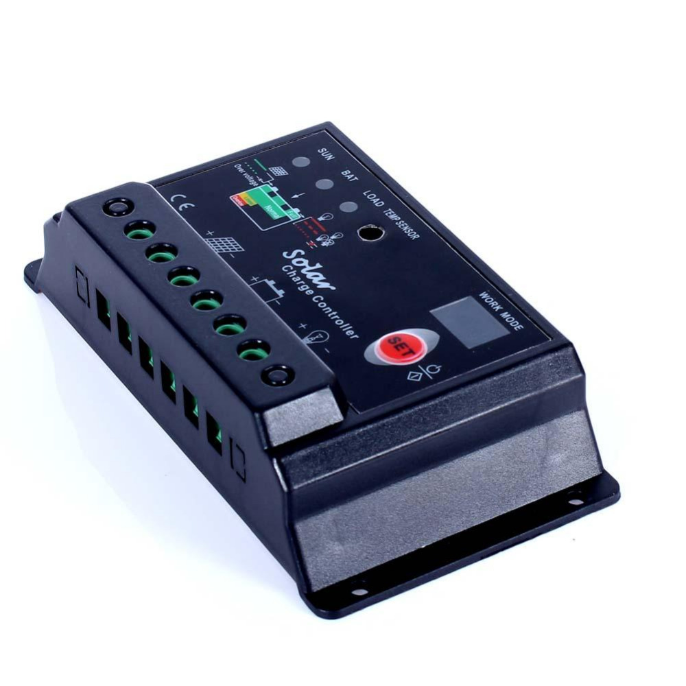 Pwm 30a Amp 12v 24v Intelligent Solar Charge Controller Panel Mode 6a Small Control Ce Battery Regulator W Lighttimer Overload Protection In Controllers From