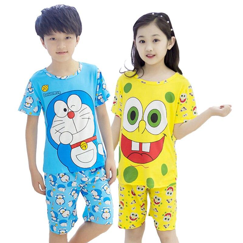 Summer Children Sleepwear Kid Clothing Set Breathable Milk ...