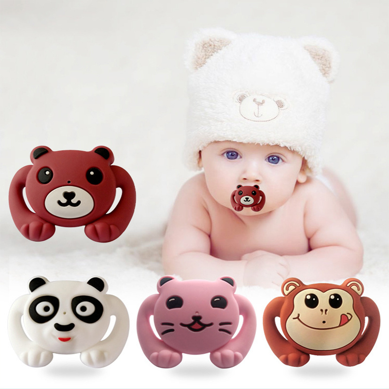 54colors Food Grade Silicone Funny Baby Pacifiers Dummy Nipple Teethers Toddler Orthodontic Soothers Teat baby Pacifier Gift in Pacifier from Mother Kids