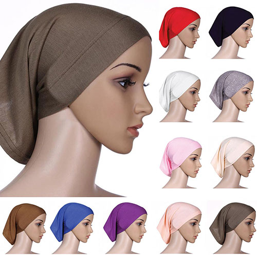 Newest Islamic Muslim Women's Head Scarf Cotton Underscarf Hijab Cover Headwrap Bonnet 943W Drop Shipping(China)
