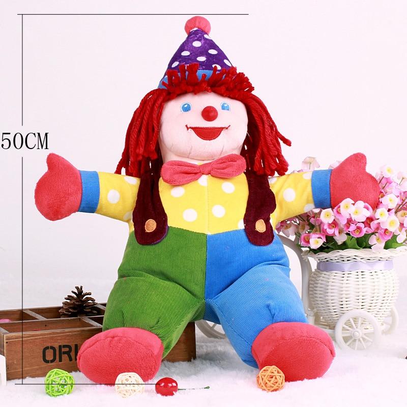 New The Joker Clown Plush Toys Cute Cartoon Favor Clown Soft Stuffed Dolls Baby Kids Sleeping Comfort Doll Party Xmas Birthday Gift 50cm (5)