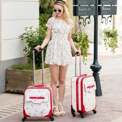 Classique 24 Roues Carrylove Inch100 Noble 16 Marque Luggage Chat Pu 20 Voyage De Valise Roulant Avec Mode Beau 5qgwq8UFx